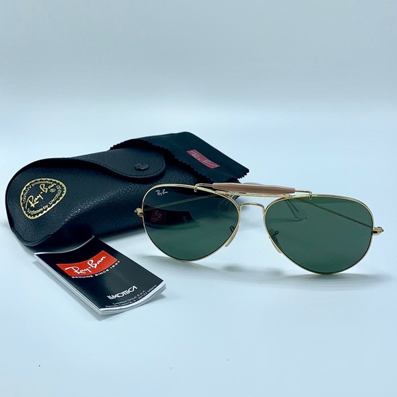 f37f69d09 Ray-Ban Accessories   Rayban Outdoorsman Ii Rb3029 L2112 Gold Green ...
